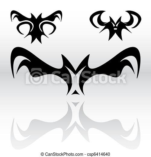 Vampire Bats Clipart - csp6414640