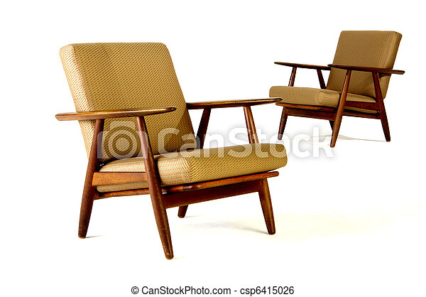 two modern upholstered chairs - csp6415026
