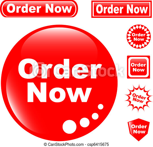 button ORDER NOW glossy icons set - csp6415675