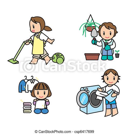 Woman illust set - csp6417699