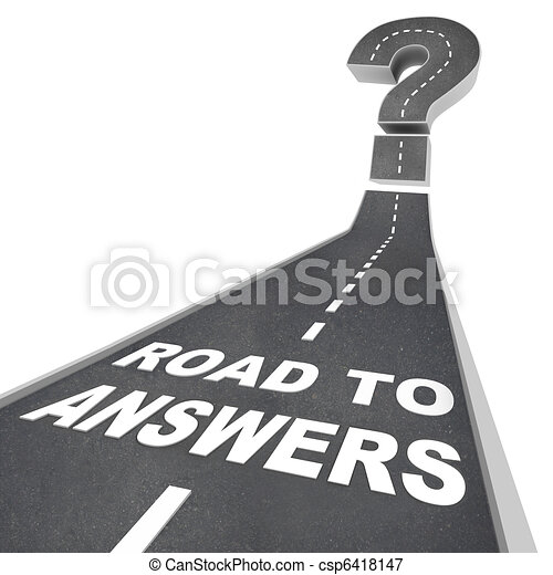 Road to Answers - Words on Street - csp6418147