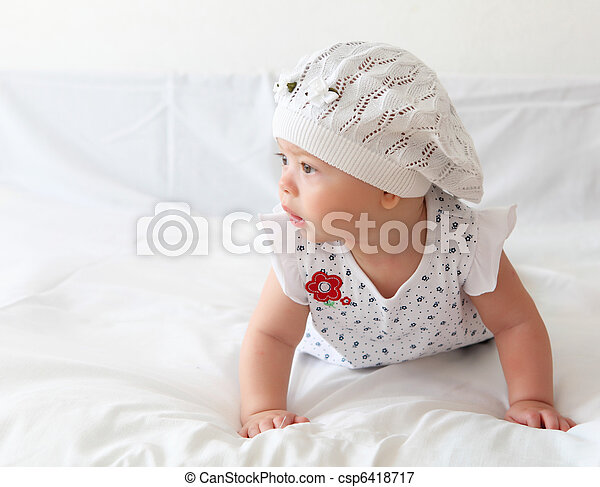 infant baby in a hat