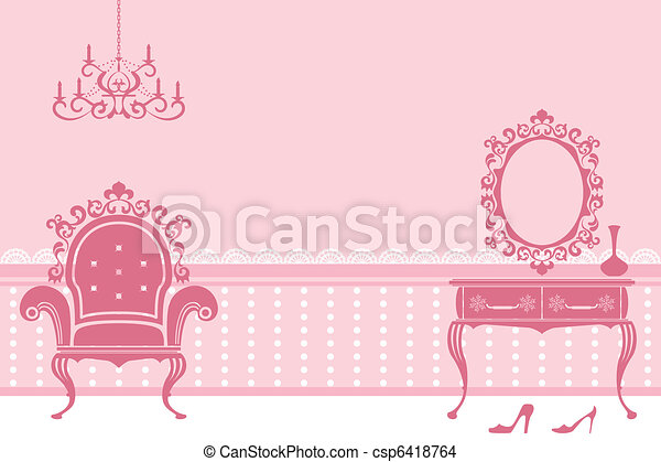 Antique pink interior - csp6418764