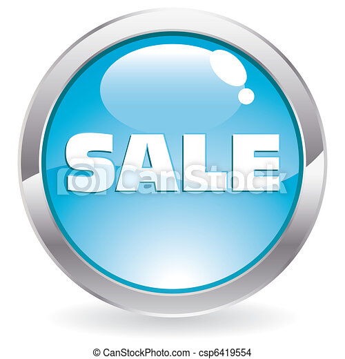 Gloss Button with the text Sale - csp6419554