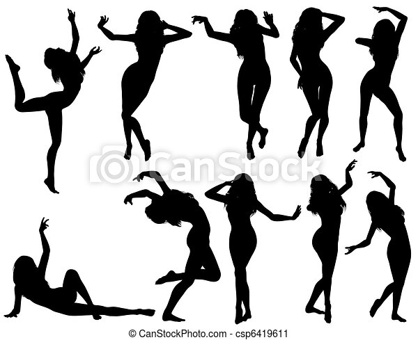 Collect dancing silhouettes - csp6419611