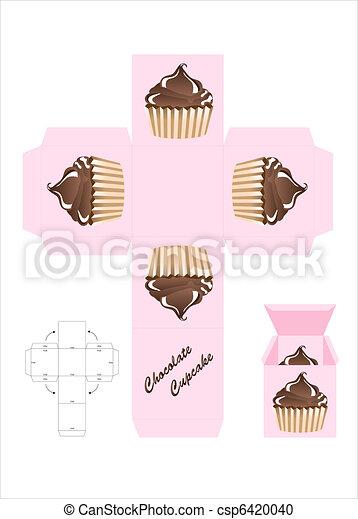Chocolate cupcake gift box - csp6420040