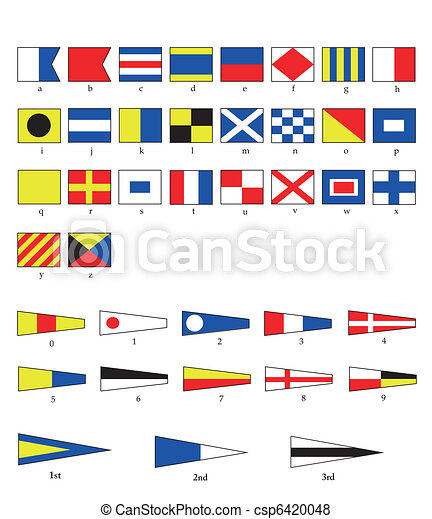 Nautical flags - csp6420048