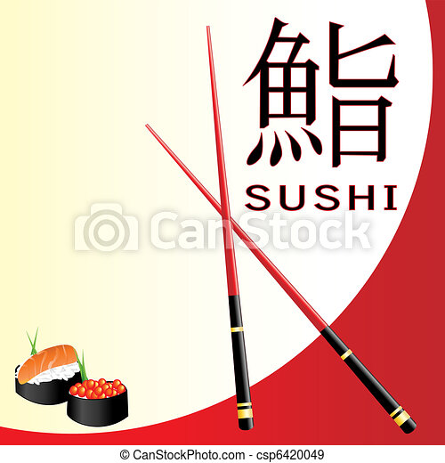 Sushi menu card - csp6420049