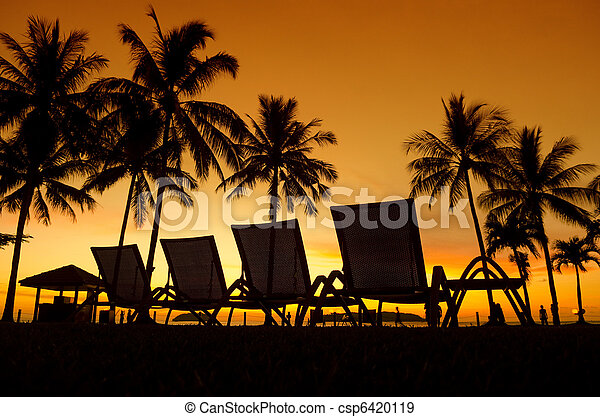 Tropical Sunset - csp6420119