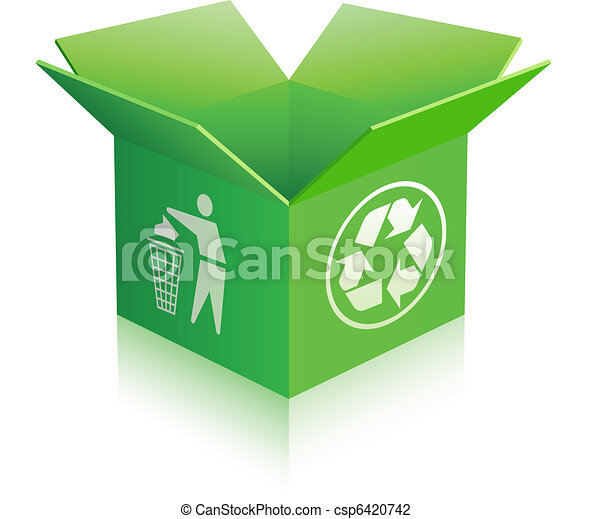 Open recycle empty box - csp6420742