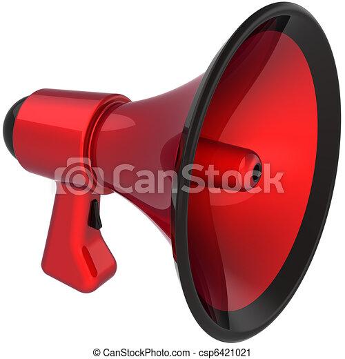 clipart de porte voix color233 attention rouges porte