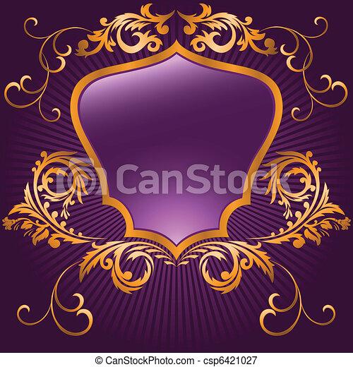 Purple shaped shield - csp6421027