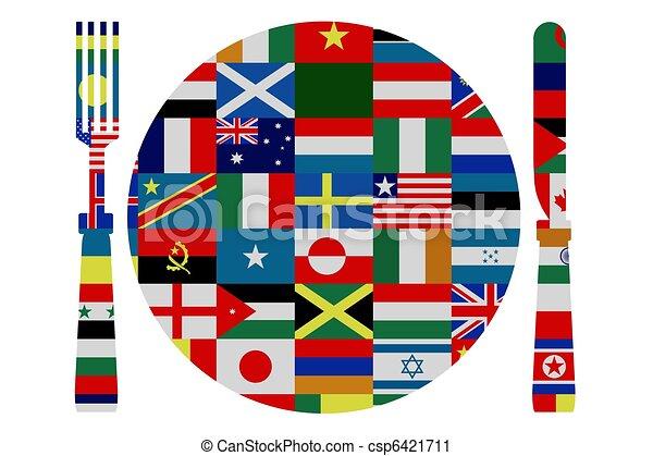 World cuisine - csp6421711