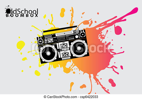 old school boombox - csp6422033