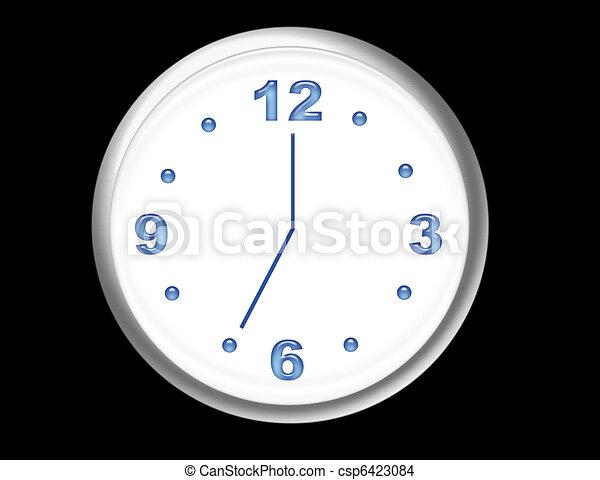 clock illustration - csp6423084