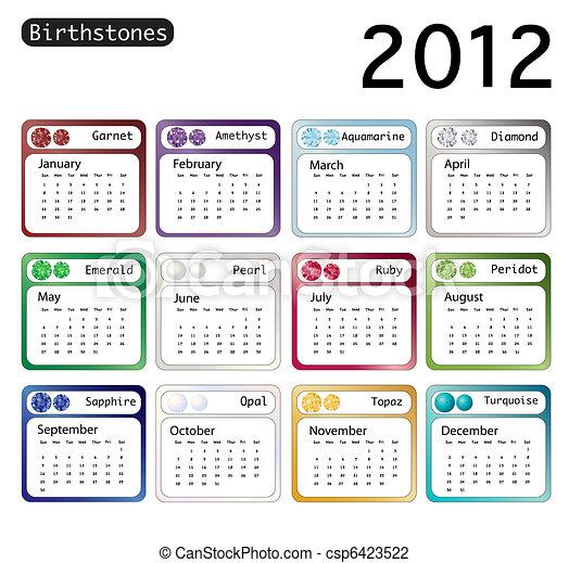 Birtstone calendar 2012 - csp6423522