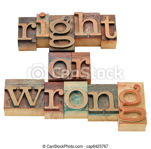 right or wrong moral dilemma - csp6423767