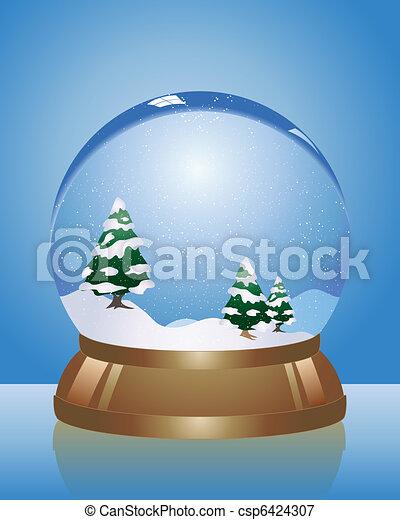 snow dome - csp6424307