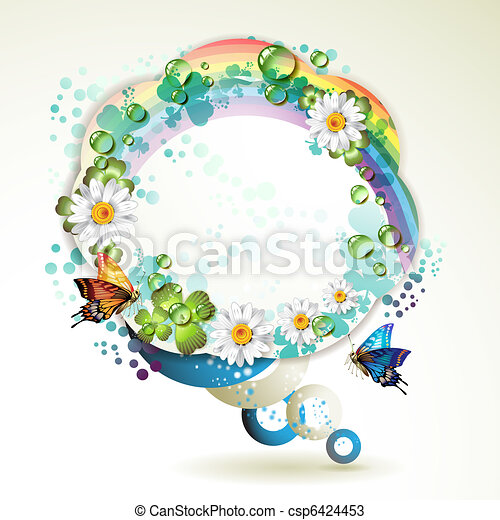 Abstract background with butterflie - csp6424453