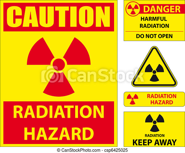 Radiation hazard signs - csp6425025