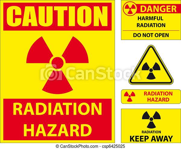 Radiation hazard signs - csp6425025