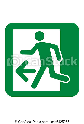 Emergency Exit sign - csp6425065