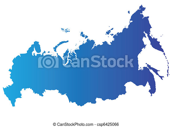 Vector map of Russia - csp6425066