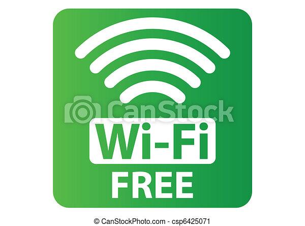 Free Wi-Fi sign - csp6425071