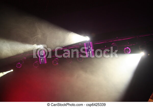 Spotlights in theatre - csp6425339