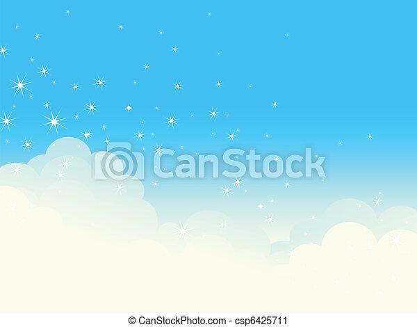 Shiny cloudscape. - csp6425711