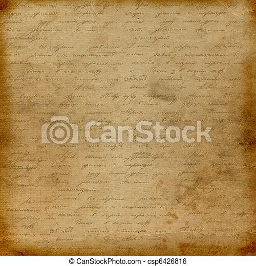 Grunge old paper design in scrapbooking style with handwriting - csp6426816