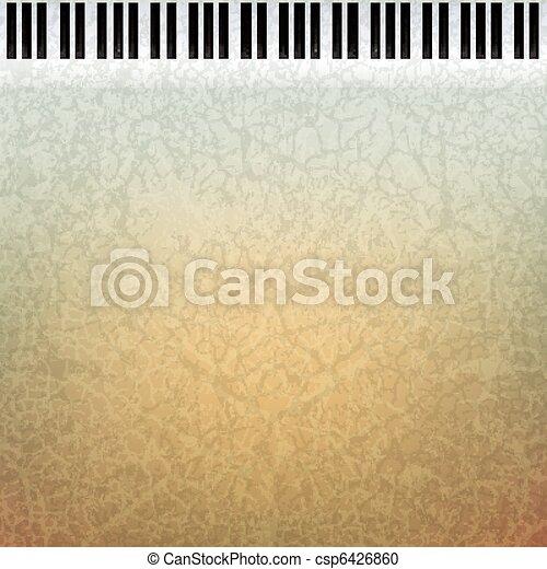 abstract grunge music background - csp6426860