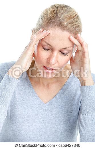 Sick woman - csp6427340