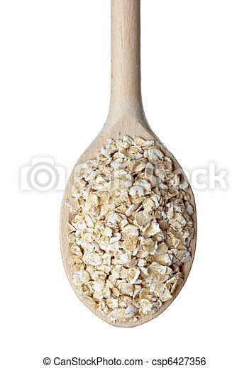 oat flakes cereals diet food - csp6427356