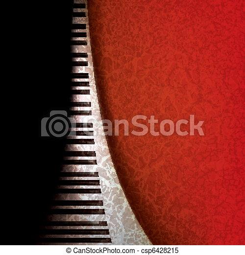abstract grunge music background - csp6428215