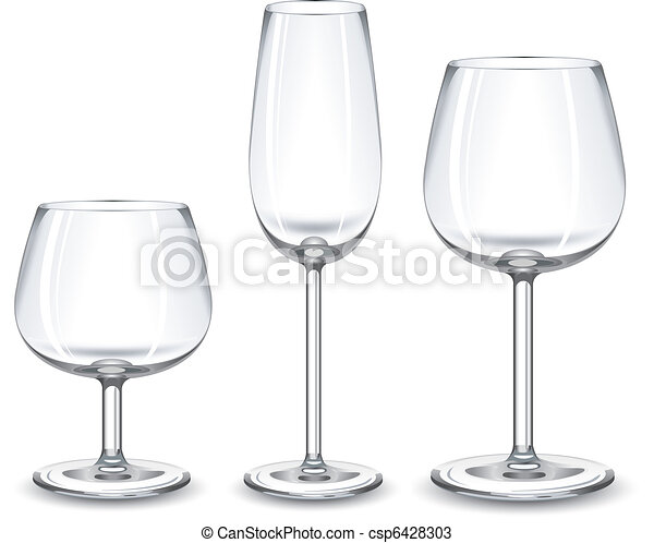 Wine glasses  - csp6428303