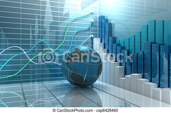 Stock market abstract background - csp6428460