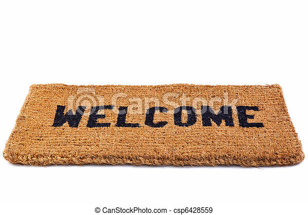 Welcome mat cut out - csp6428559