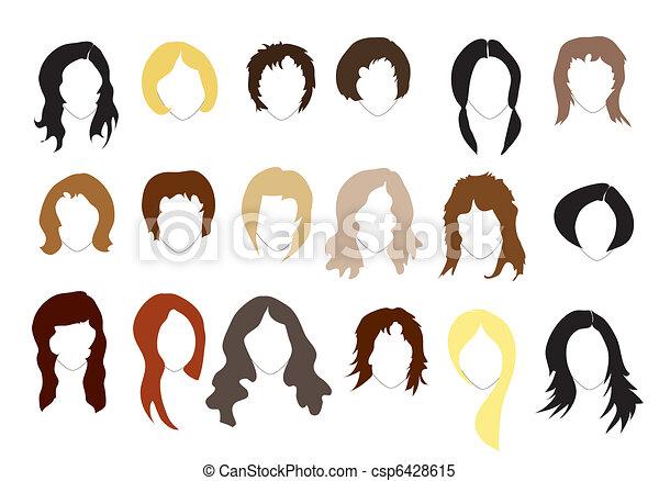 Hairstyles - csp6428615