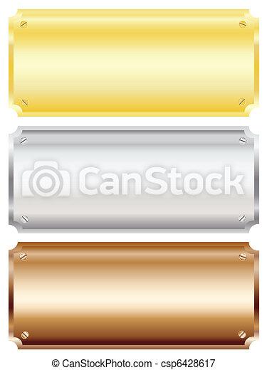 Metal plaques - csp6428617