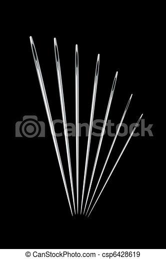 Needles on black - csp6428619