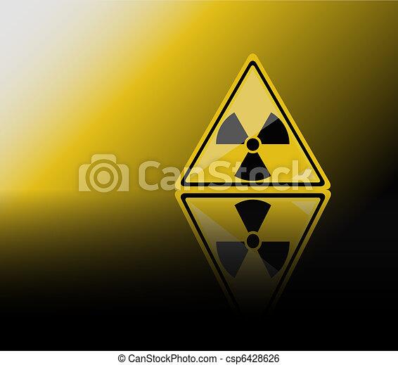 Radiation warning sign - csp6428626