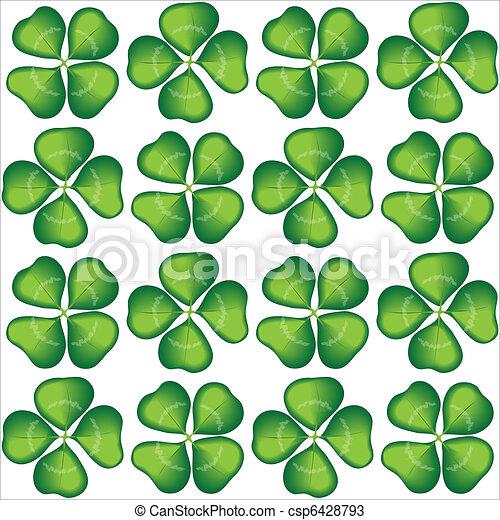 Lucky cloverleaf seamless - csp6428793