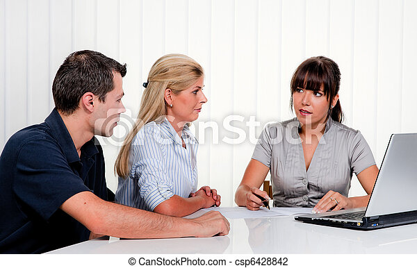 Discussion at a consultation - csp6428842