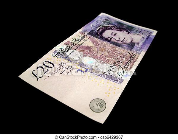 Twenty pound note - csp6429367