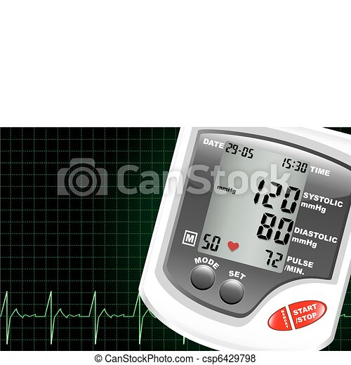 Blood pressure monitor - csp6429798