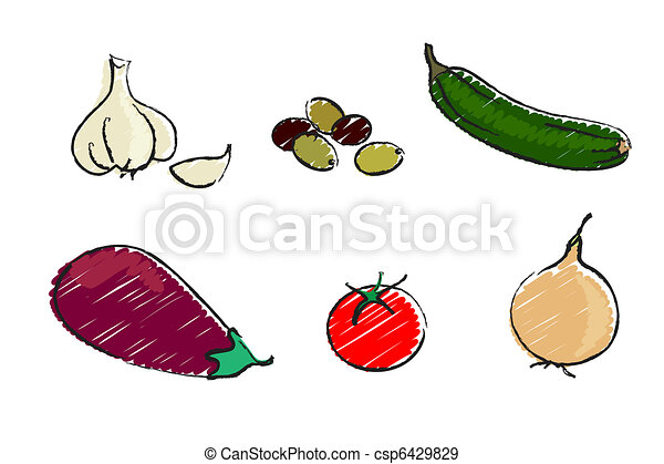 Mediterranean vegetables - csp6429829