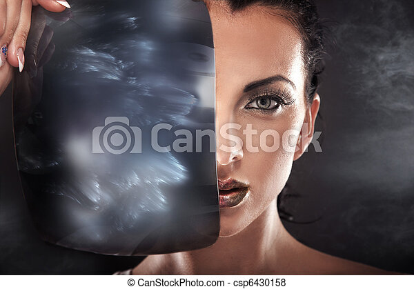 Modern style fantasy portrait of a beautiful young woman - csp6430158