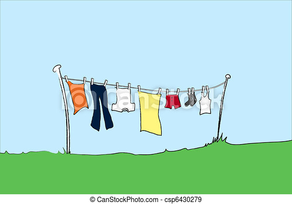 Washing line mens - csp6430279