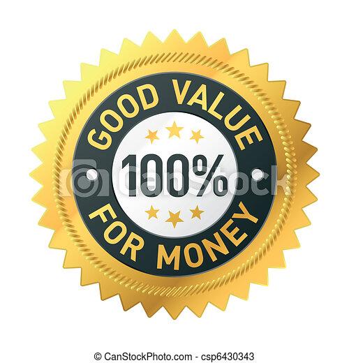 Good value for money label - csp6430343